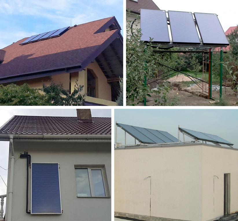Монтаж солнечных коллекторов