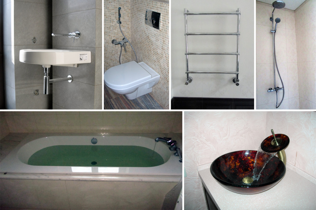 Установка санитарно-технических приборов