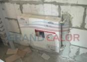 Боковое подключение радиатора из стены