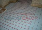 Укладка электрического теплого пола для обогрева подвальной части храма