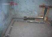 Монтаж выводов под сантехнические приборы в ванной