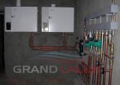 Котельная с каскадом конденсационных котлов Logamax plus GB112 60 кВт, обвязка медью