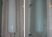 Монтаж электрического бойлера в нише