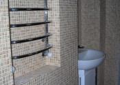Установка полотенцесушителя и умывальника