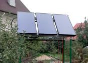 Солнечные коллекторы Ensol на выносном каркасе для крепления гелиополя