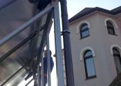 Монтаж солнечных коллекторов Ensol на выносном каркасе