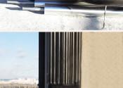 Монтаж теплотрассы по фасаду здания