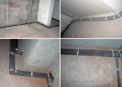 Прокладка трасс систем отопления и водоснабжения