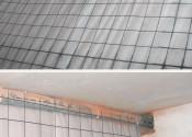Укладка армирующей сетки в помещениях с небольшой толщиной стяжки