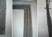 Монтаж стояков систем отопления и водоснабжения