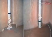 Монтаж стояков системы бесшумной канализации Raupiano